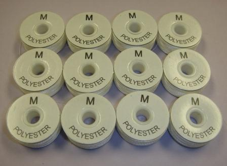 "8330-00-000M Our Top Selling Style ""M"" Bobbin White"