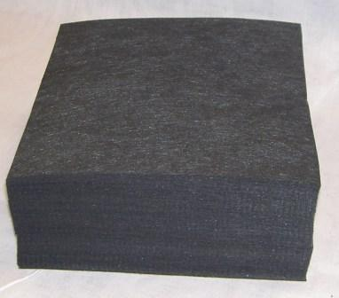 "7725-0B-0808- 2.5 ounce BLACK Cut Away. 8"" x 8"" Pieces"